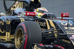 Conductor Pastor Maldonado Team Lotus F1 Fotos de archivo libres de regalías