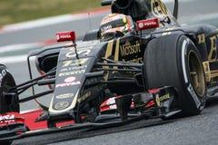 Conductor Pastor Maldonado Team Lotus F1 Imagenes de archivo