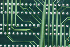 Conductor paths on printed circuit board Stock Photography