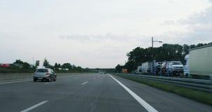 Conductor pov en el autobahn almacen de video