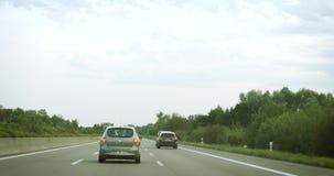Conductor pov en el autobahn almacen de metraje de vídeo