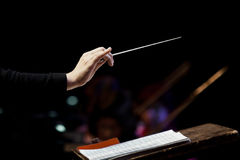 conductor's hand Stock Photos