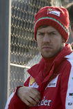 Conductor Sebastian Vettel Team Ferrari Foto de archivo