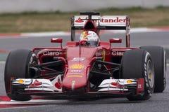 Conductor Sebastian Vettel Team Ferrari Imagen de archivo libre de regalías
