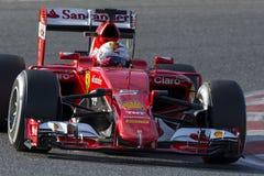 Conductor Sebastian Vettel Team Ferrari Fotos de archivo libres de regalías