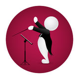 Conductor standing front music stand Stock Photos