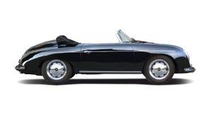 Conductor veloz clásico 356 de Porsche aislado en blanco Fotos de archivo libres de regalías