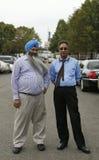 Conductores de taxi no identificados en Nueva York Foto de archivo