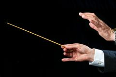Conductors hands directing. Stock Image