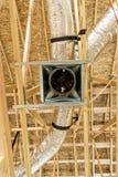 Conductos económicos de energía del horno de la calefacción Fotos de archivo libres de regalías