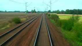 Conduire le train à grande vitesse banque de vidéos
