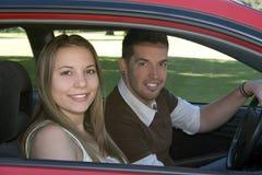 Conduire le véhicule Images libres de droits