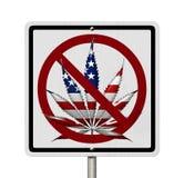 Conduire sous l'influence de marijuana illustration libre de droits