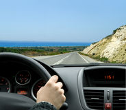Conduire un véhicule Photo libre de droits