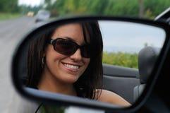 Conduire une voiture de sport Photos libres de droits