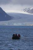 Conduisant à vitesse normale les glaciers Photos stock