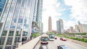 Conduisant par Chicago, l'Illinois banque de vidéos