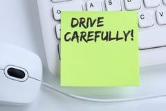 Conduisez conduire soigneusement le concept MOIS d'affaires du trafic d'accident de voiture Photographie stock libre de droits