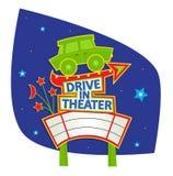 Conduisez dans le signe de théâtre Photographie stock
