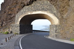 Conduisez le long de la côte dans Ténérife Photo libre de droits