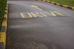 Conduisez par l'allée Image libre de droits