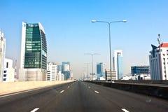 Conduisez par la banlieue de Bangkok Images libres de droits