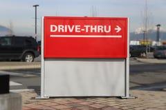 Conduisez par le panneau routier Images stock