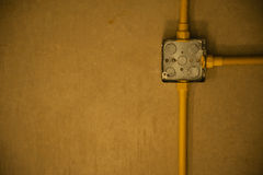 Conduit  box on ceiling Royalty Free Stock Photo