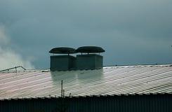 Conduit et toit Images libres de droits