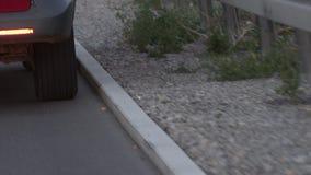 Conduite au bord de la route banque de vidéos
