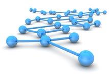 Conduite d'affaires et concept de réseau illustration stock