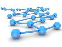 Conduite d'affaires et concept de réseau illustration libre de droits