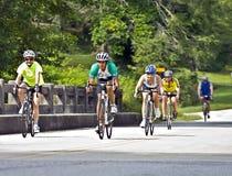Conduite de bicyclette à travers la Géorgie Image libre de droits