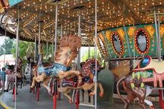 Conduite de carrousel en champ de foire Image libre de droits