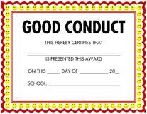 Conduite de certificat de récompense bonne Photo libre de droits