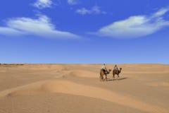 conduite de désert Photos stock