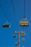 Conduite de levage de ski Photo stock