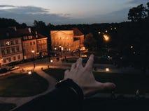 Conduite de nuit Photographie stock