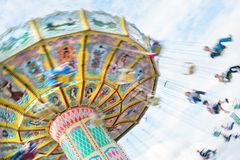 Conduite de parc d'attractions Photo stock