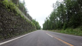 conduite de point de vue de 4K POV par la campagne à la montagne de Fuji clips vidéos