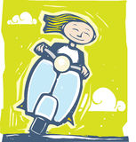 Conduite de scooter illustration libre de droits