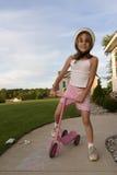 Conduite de son scooter Images libres de droits