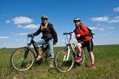 Conduite de vélo. Photo stock