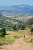 Conduite de vélo de montagne du Colorado images libres de droits