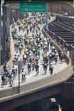 Conduite de vélo de New York Photographie stock
