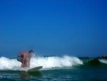 Conduite de vague déferlante Image stock