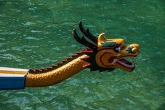 Conduite en bambou de bateau de dragon d'eau de mer de Hubei Zigui Three Gorges Photographie stock libre de droits