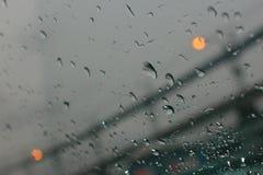 Conduite pluvieuse Photographie stock