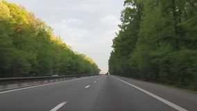 Conduite sur la route A1 banque de vidéos