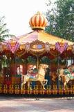Conduite vide de carrousel pour des enfants Images libres de droits